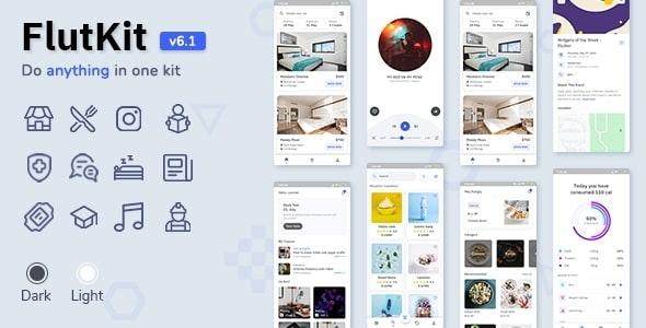 FlutKit v6.1.0 – Flutter UI Kit