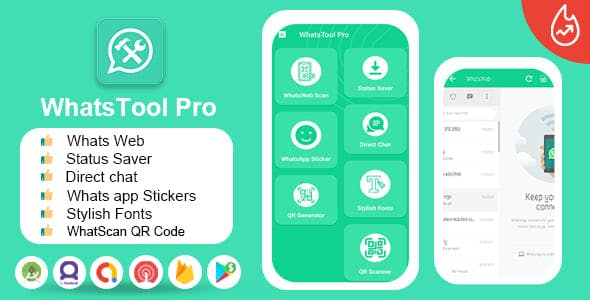 WhatsApp Tools Pro - (For WhatsApp & WhatsApp Business) - DM - Stylish Fonts - QR Generator, Scaner