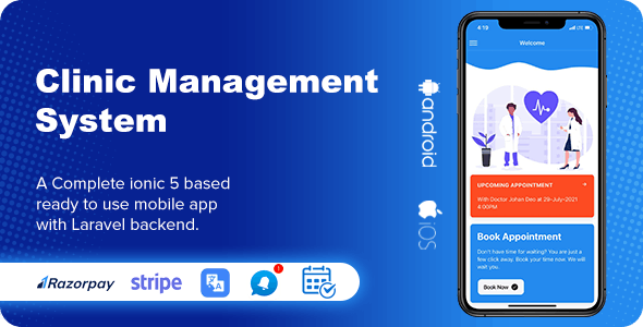 CMS - Clinic Management System ionic 5 Complete mobile app for android & ios (Php Laravel backend) - CodeCanyon Item for Sale