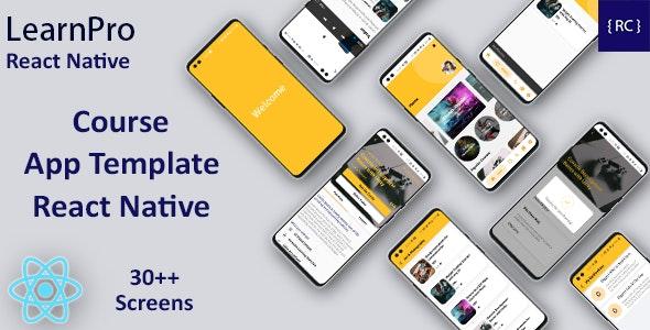 React Native LMS App Template - Course App Template React Native - Udemy Clone React Native - CodeCanyon Item for Sale