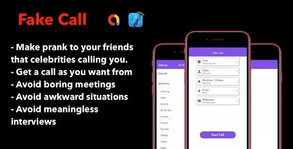Fake Call - iOS App With ADMob