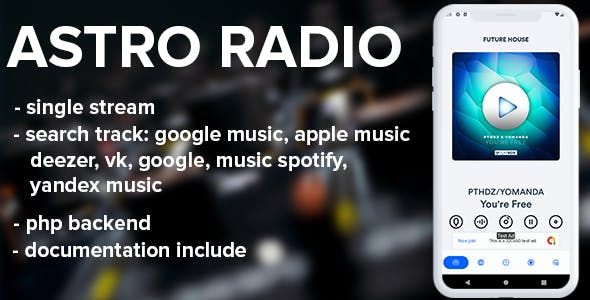Astro live radio with php backend