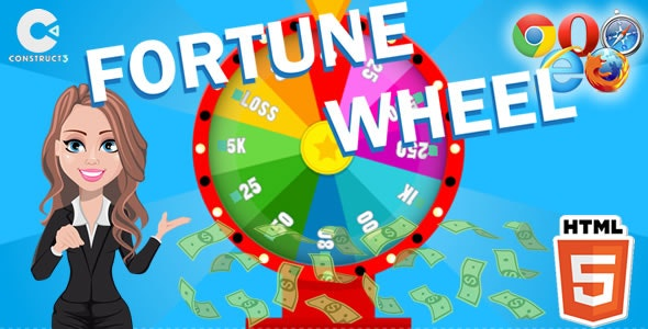 Fortune Wheel - HTML5 Game (C3) - CodeCanyon Item for Sale