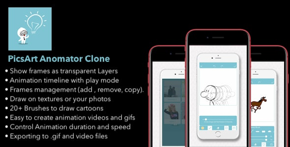 PicsArt Animator Clone - iOS Only app With AdMob Integrated