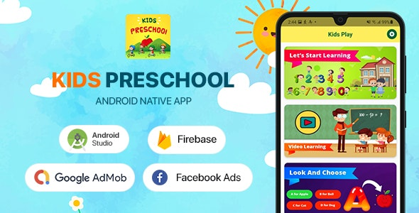 Kids Preschool - Android App - CodeCanyon Item for Sale
