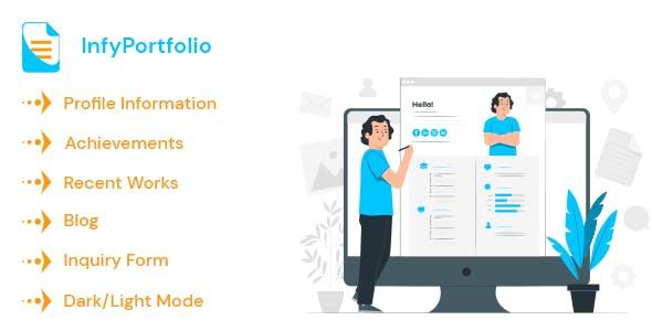 InfyPortfolio - Laravel Personal Portfolio / Resume / CV Website Theme