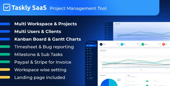 TASKLY SaaS – Project Management Tool - CodeCanyon Item for Sale
