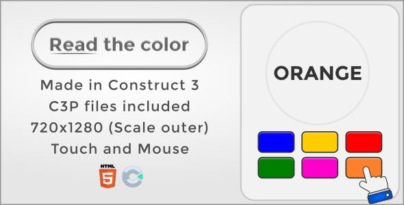 Read the color - HTML5 Casual game