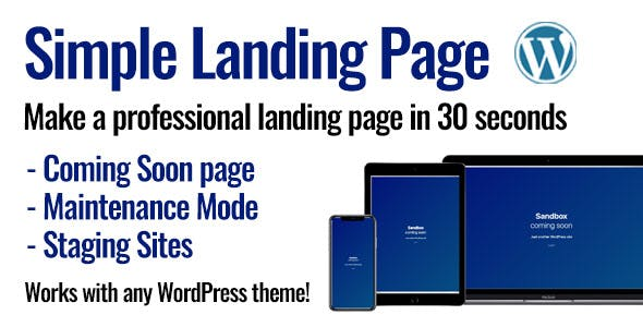 Simple Landing Page for WordPress
