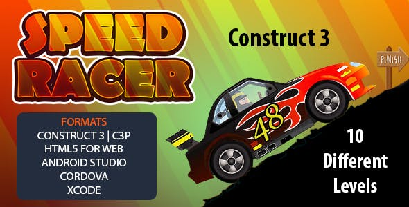 Speed Racer Car Game (Construct 3 | C3P | HTML5 | Android Studio | Cordova | Xcode) Racing Game
