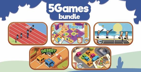 5 HTML5 Games Bundle - ( HTML5 | Construct 2-3 | Capx C3p )