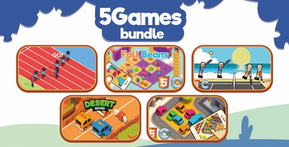 5 HTML5 Games Bundle - ( HTML5 | Construct 2-3 | Capx C3p ) - CodeCanyon Item for Sale
