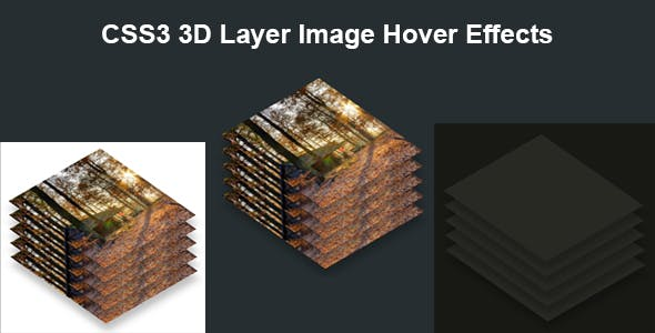 CSS3 3D Layer Image Hover Effects