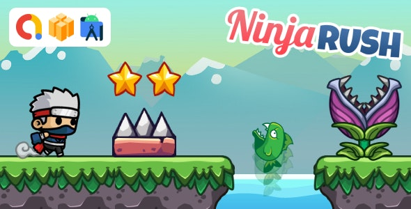 Ninja Rush Game (Buildbox Template + Android Studio Project) - CodeCanyon Item for Sale