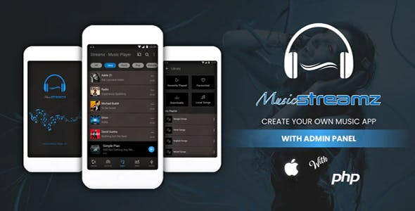 Streamz - A music streaming iOS app with admin panel