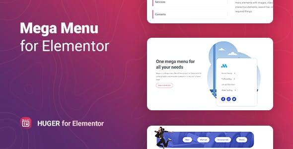 Huger – Mega Menu for Elementor