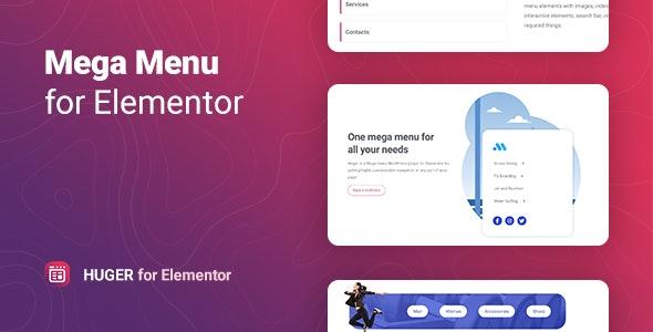 Huger v1.0 – Mega Menu for Elementor