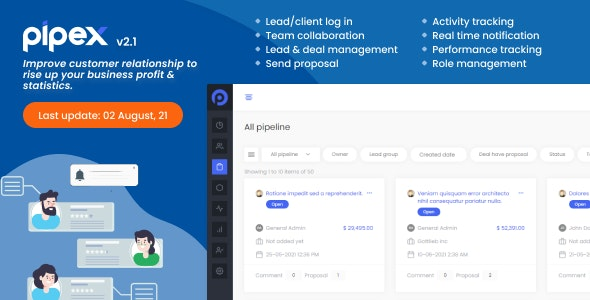PipeX CRM v2.1 – nulled