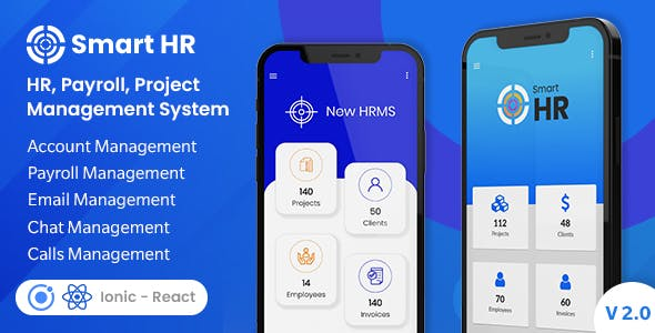 SmartHR - HR, Payroll, Project, Accounts & Employee Management System - Ionic Mobile App Template