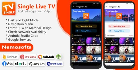 Android TV Channel - Single TV Live Streaming App
