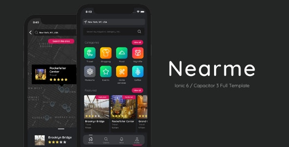 Nearme - Ionic v6 Theme - City Guide / Business Directory Template w/ Admin Portal - CodeCanyon Item for Sale