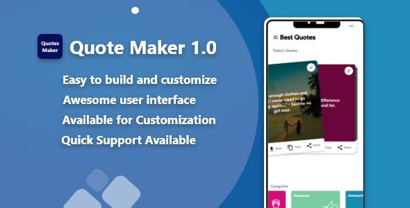 Quotes Maker App