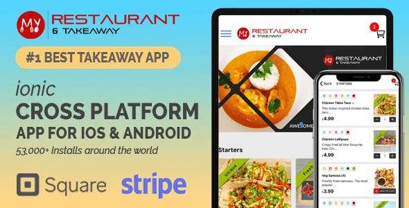Best Takeaway Restaurant Online Food Ordering Delivery System - iOs Android Kitchen Owner Web Admin