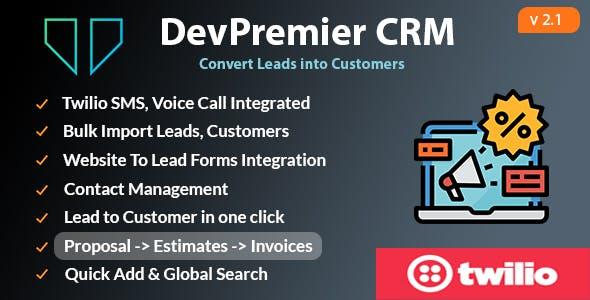 DevPremier CRM - Convert Leads into Customers