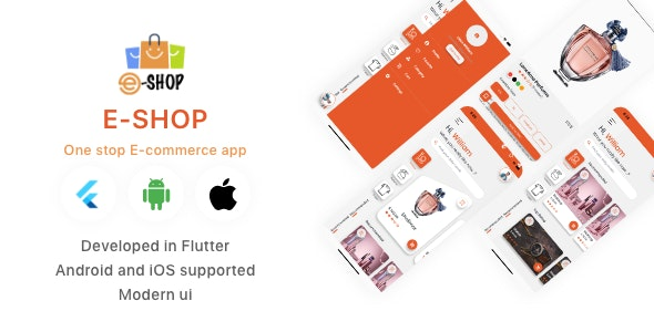 E-shop Ecommerce Shopping App UI Kit in Flutter - CodeCanyon Item for Sale