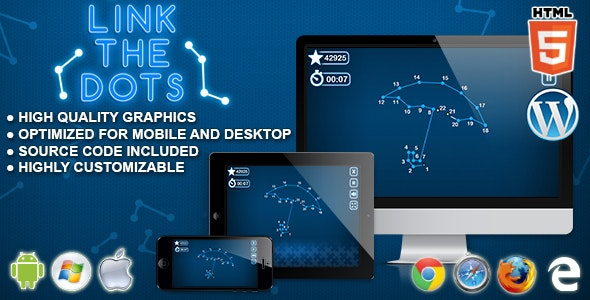 Link the Dots - HTML5 Logic Game - CodeCanyon Item for Sale