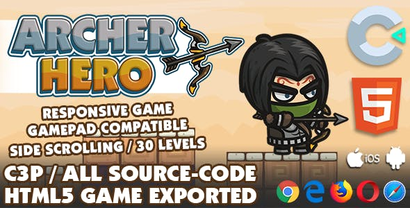 Archer Hero HTML5 Game - With Construct 3 All Source-code