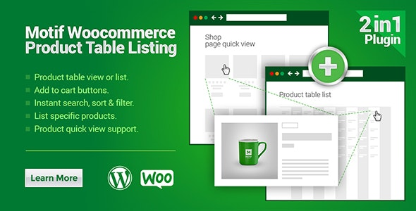 WooCommerce Product Table Listing - CodeCanyon Item for Sale