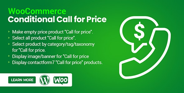 WooCommerce Conditional Call for Price - Call to Order - CodeCanyon Item for Sale