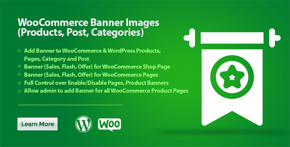 WooCommerce Banner Images (Products, Post, Categories)