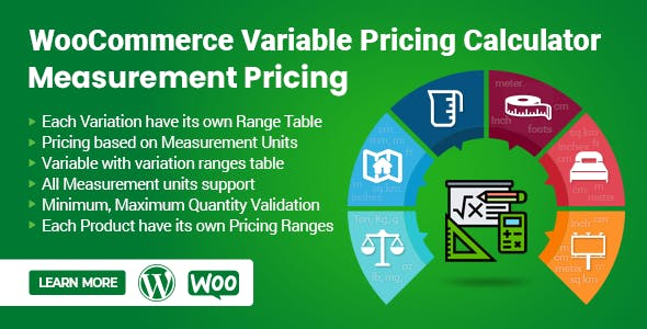 WooCommerce Variable Pricing Calculator (Measurement Pricing)