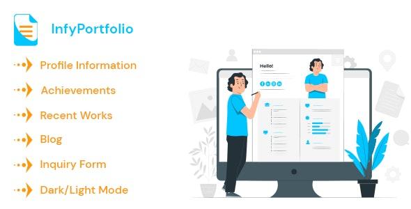 InfyPortfolio - Laravel Personal Portfolio / Resume / CV Website Theme - CodeCanyon Item for Sale