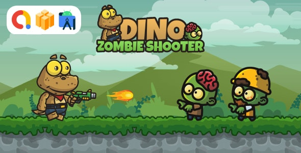 Dino Zombie Shooter (Buildbox Template + Android Studio Project) - CodeCanyon Item for Sale