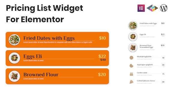 Pricing List Widget For Elementor - CodeCanyon Item for Sale