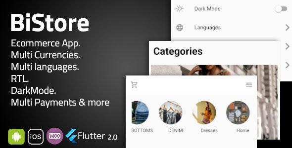 Bistore WooCommerce - Flutter E-commerce Full App - CodeCanyon Item for Sale