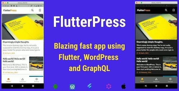 FlutterPress : Convert  WordPress Blog into App with Flutter and GraphQL