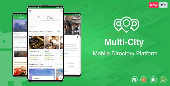 Multi-City ( City Directory Android App with Unlimited Cities ) 2.2 - CodeCanyon Item for Sale