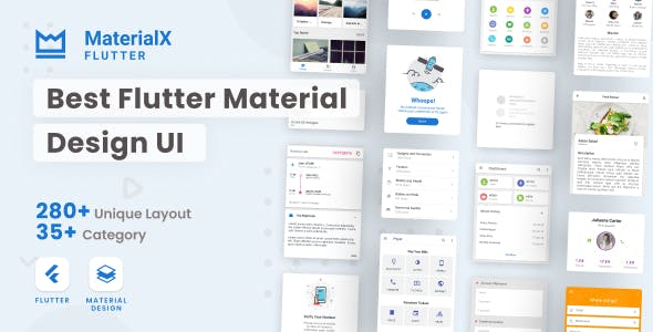 MaterialX Flutter - Flutter Material Design UI 2.2