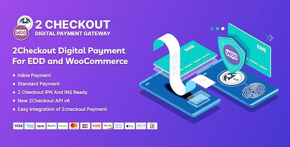 Sparkle 2Checkout Digital Payment Gateway for WooCommerce & Easy Digital Download