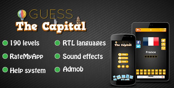 Guess The Capital - Android Word Game
