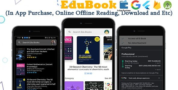 Edu Ebook - Flutter Ebook App + Admin Panel