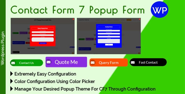 Contact Form 7 Popup Form - CodeCanyon Item for Sale