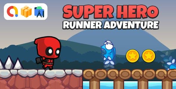 Super Hero Runner Adventure (Buildbox Template + Android Studio Project)