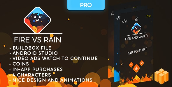 Fire and Water (PRO) - BUILDBOX CLASSIC game - Easy To Reskine - CodeCanyon Item for Sale