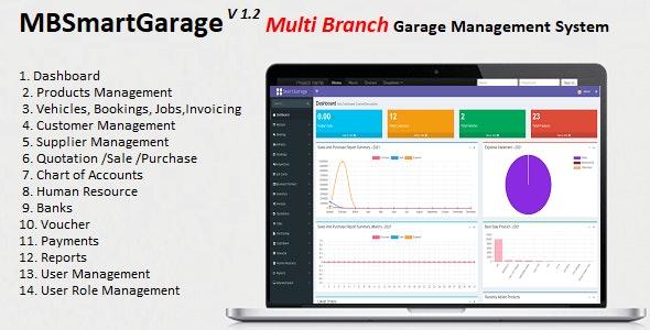 MBSmartGarage - Multi Branch Garage / Workshop Management System - CodeCanyon Item for Sale