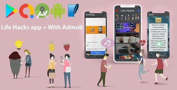 Life Hacks app - Daily Tips for your Life + With Admob - CodeCanyon Item for Sale